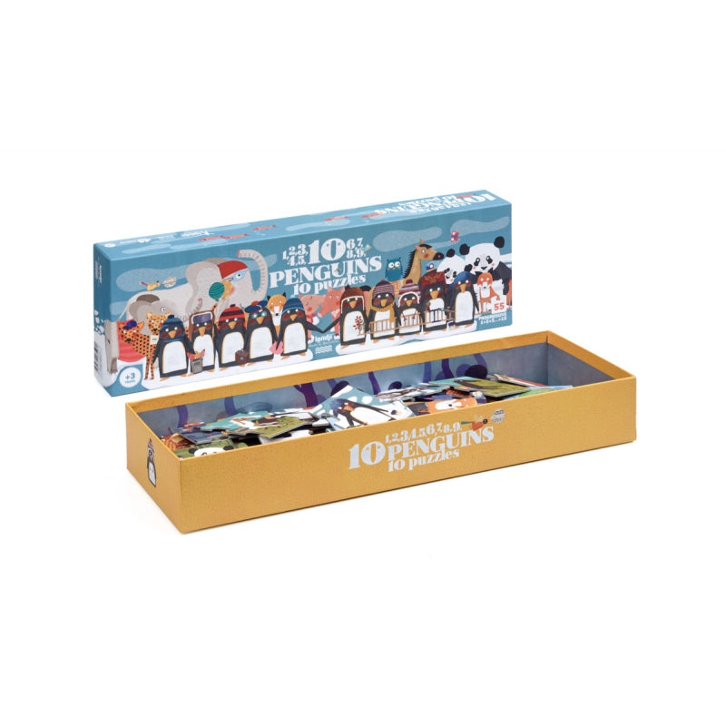 10 Penguins, 10 Puzzles