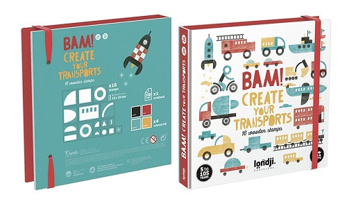 Wooden Stamps - Bam! Create Your Transport