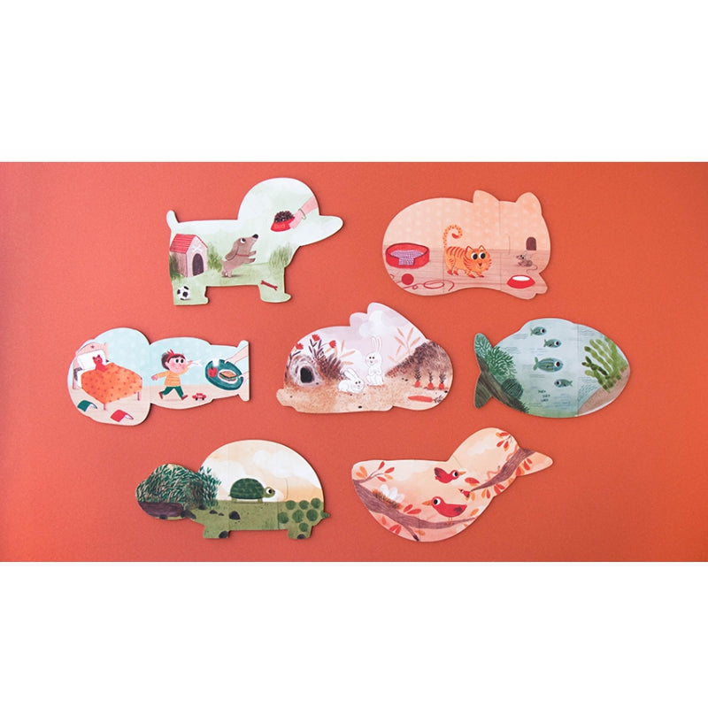 I Love My Pets - 7 Reversible Puzzles