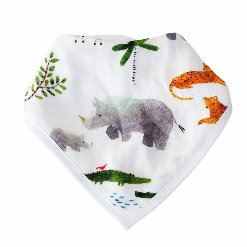 Luxe Muslin Bib Set - Safari