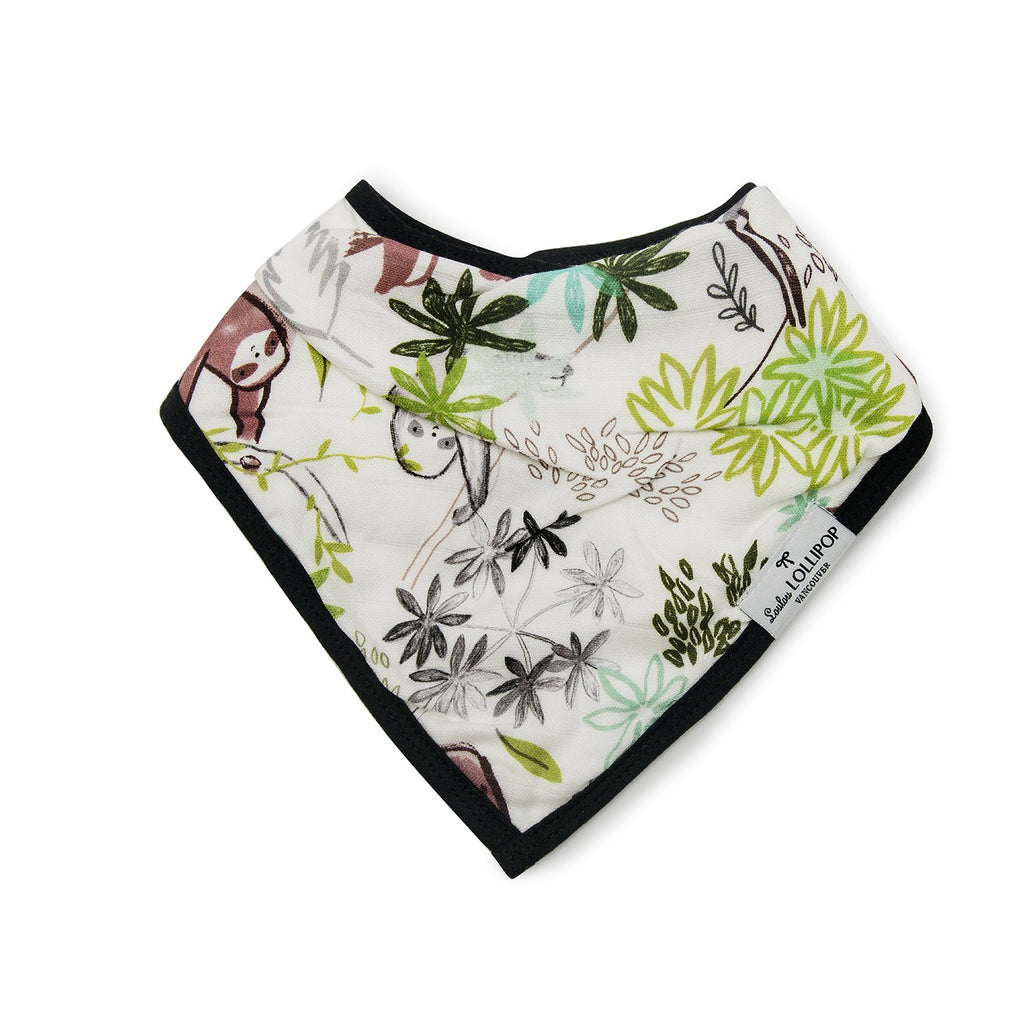 Luxe Muslin Bib Set - Sloth
