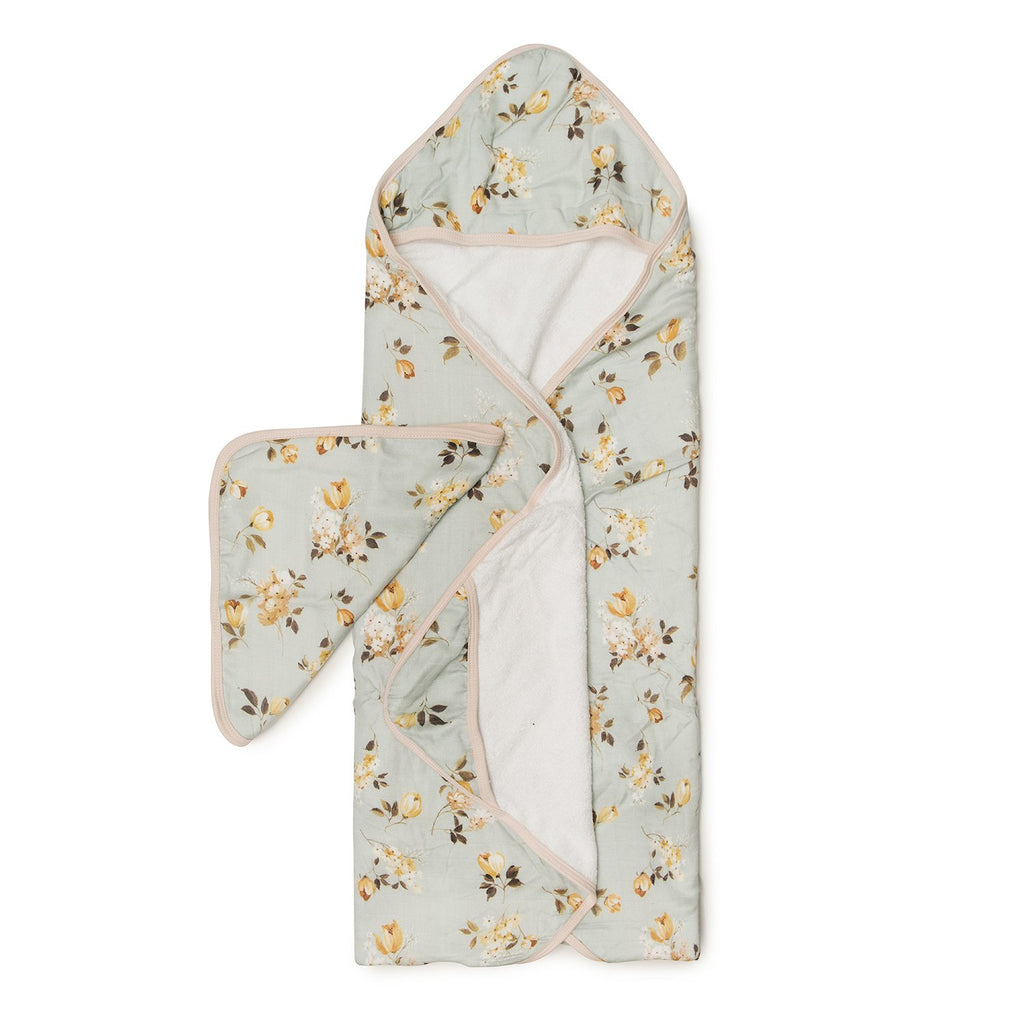 Hooded Towel Set - Wild Rose