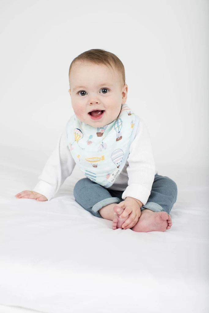 loulou lollipop luxe muslin bandana bib set up up away