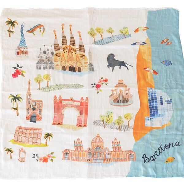 loulou lollipop luxe muslin swaddle blanket barcelona