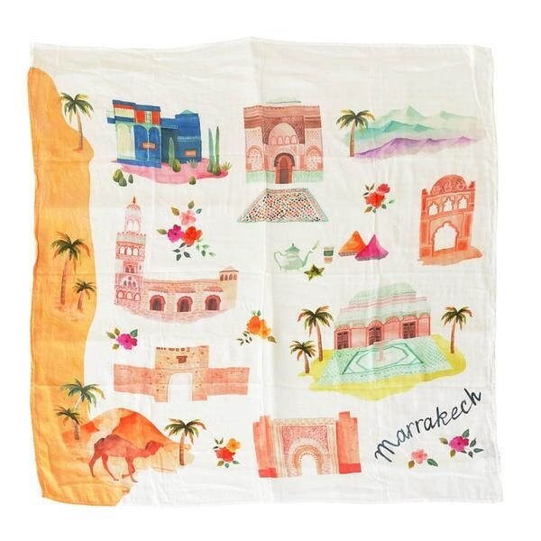 loulou lollipop luxe muslin swaddle blanket marrakesh
