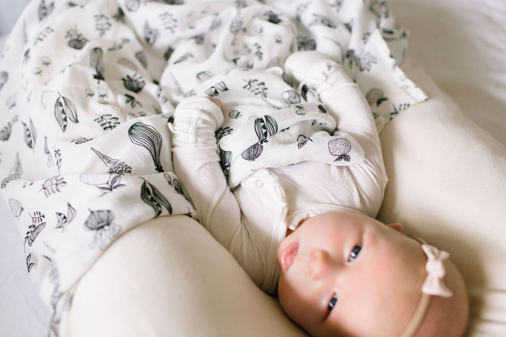 loulou lollipop luxe muslin swaddle eat your veggies baby