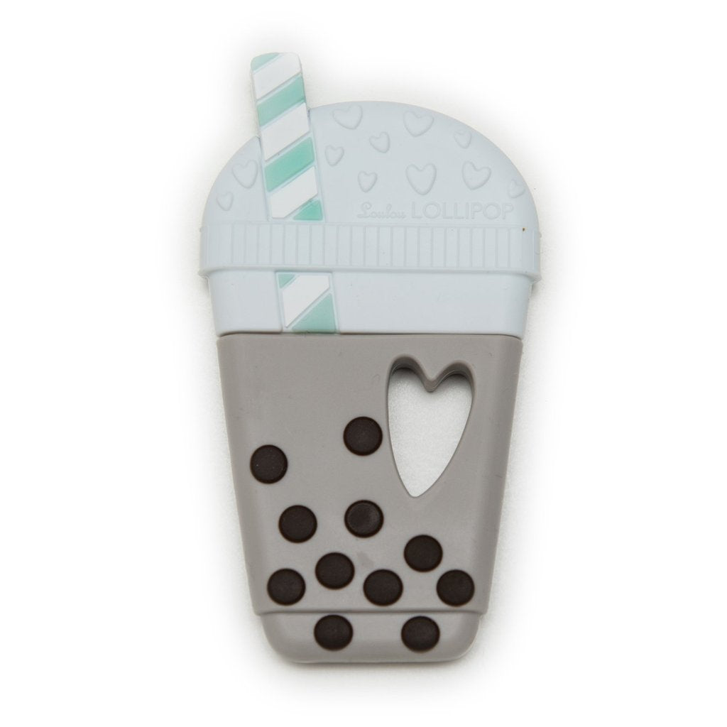 loulou lollipop milk tea bubble tea silicone teether single