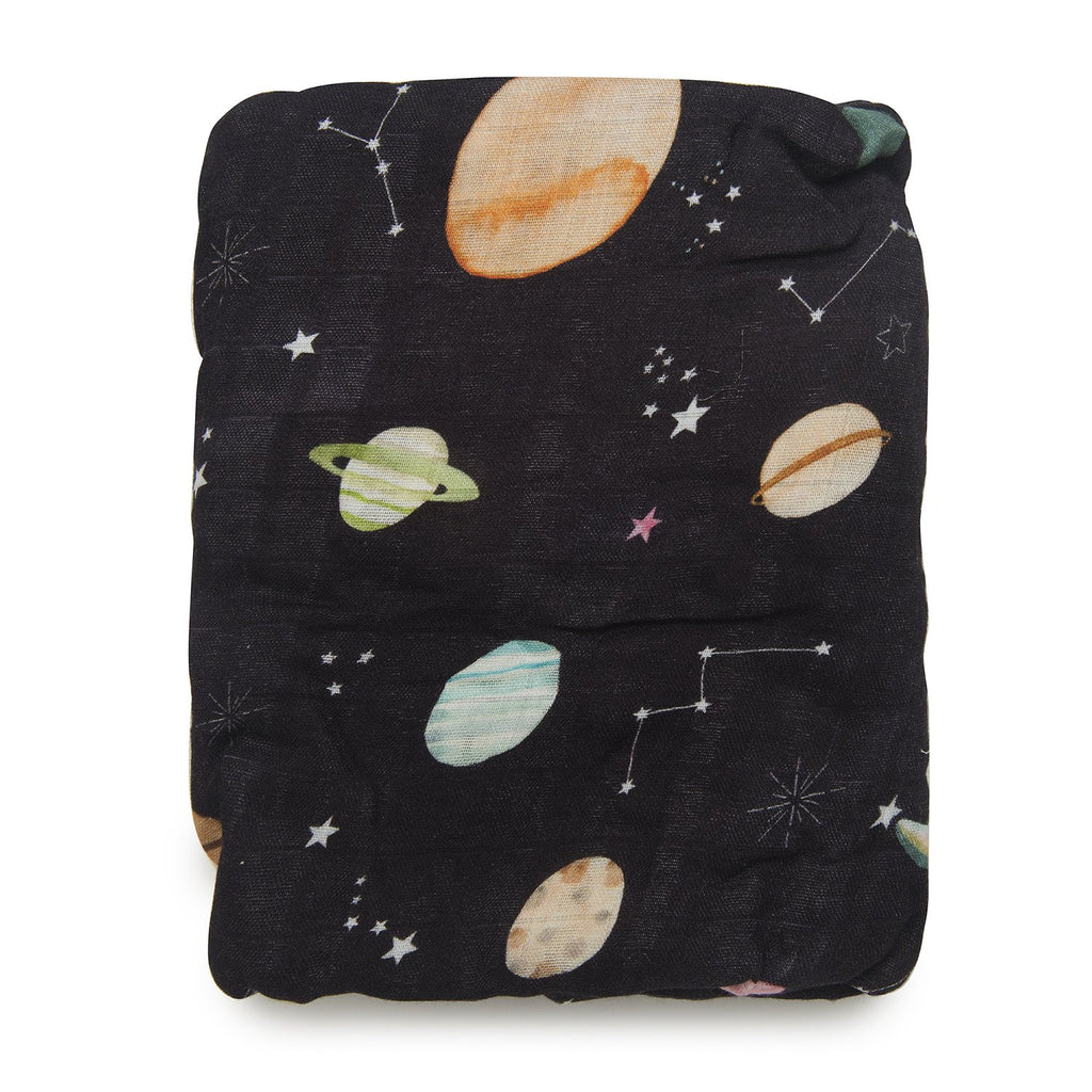 Luxe Muslin Fitted Crib Sheet - Planets