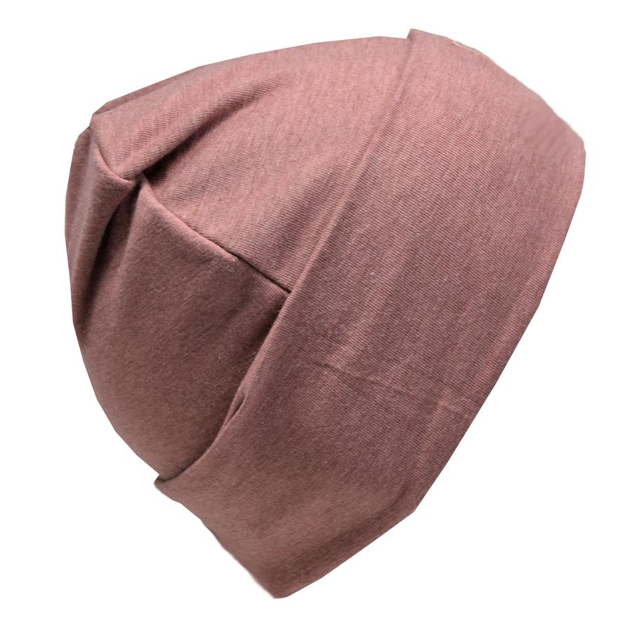Cotton Slouch Beanie - Eggplant