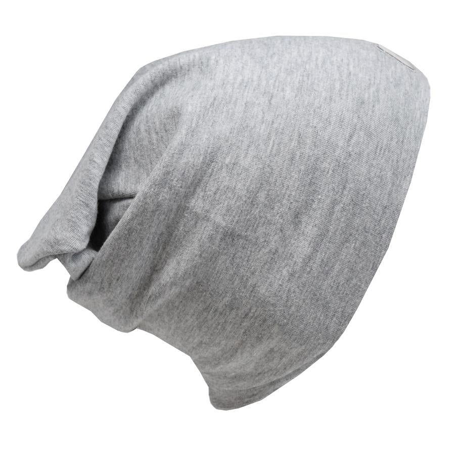 Cotton Slouch Beanie - Heather Grey