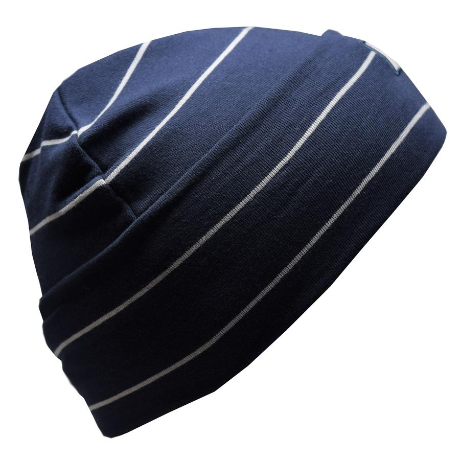 Cotton Slouch Beanie - Navy/Grey