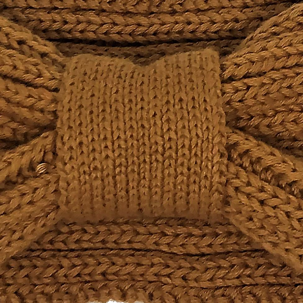 Knit Headband - Gold Vintage