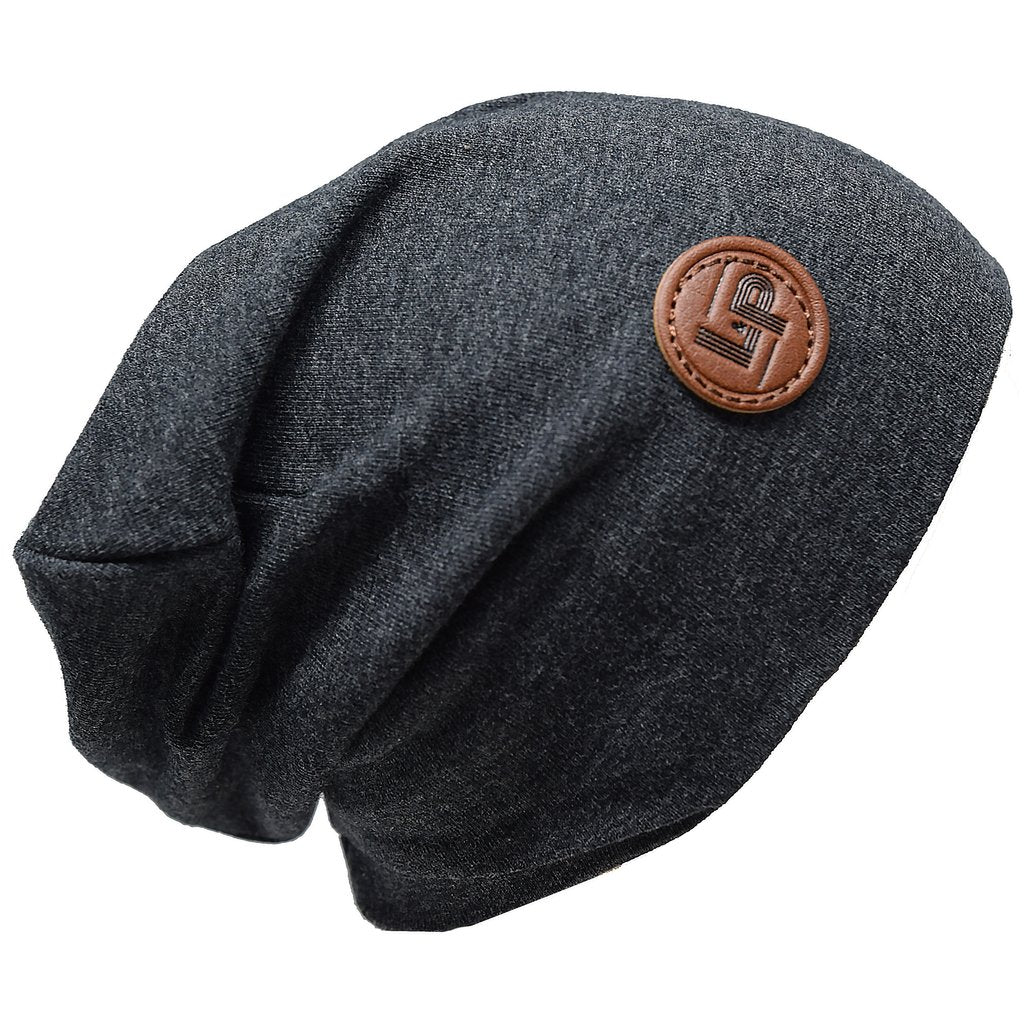 Ultra Trendy Cotton Slouch Beanie - Charcoal