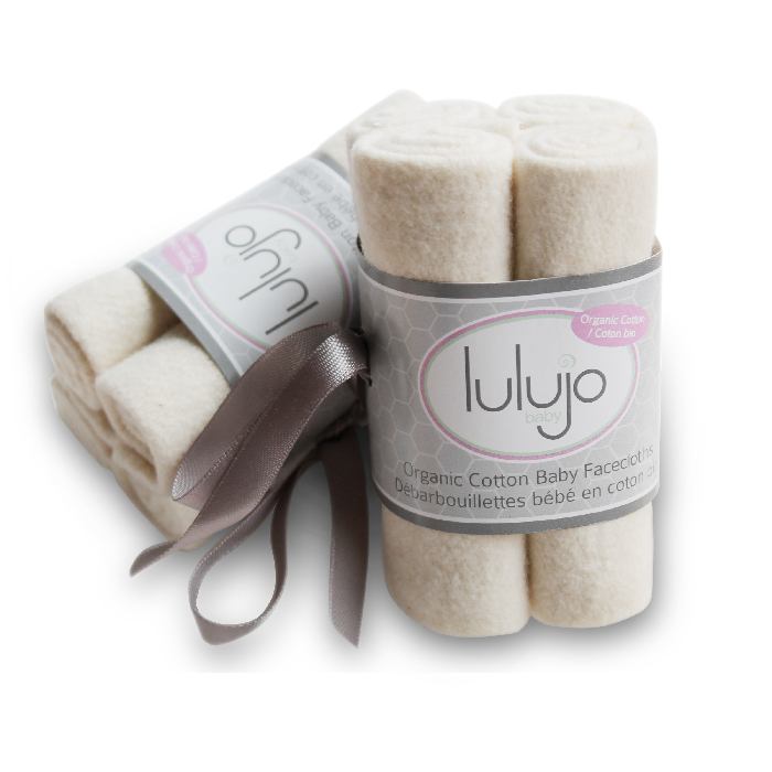 lulujo organic cotton wash cloths