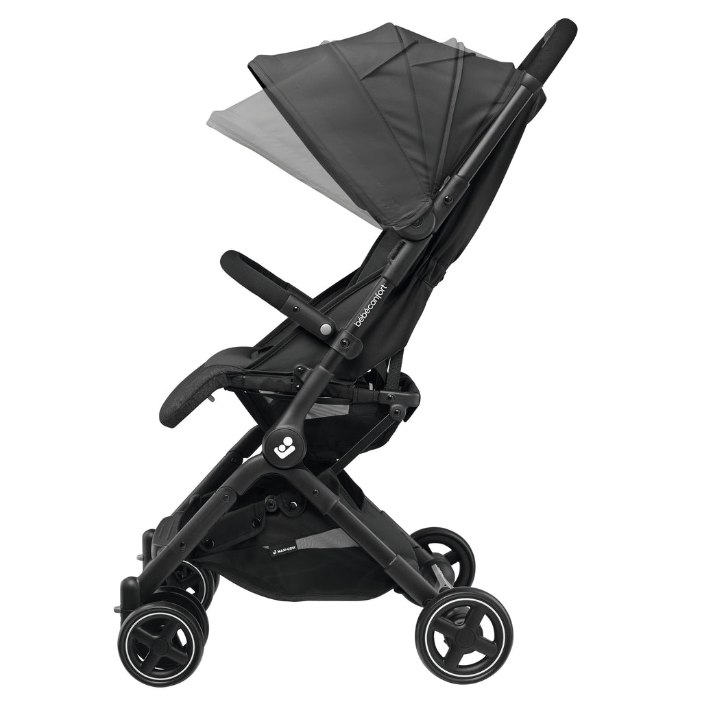 maxi-cosi lara rs ultracompact travel stroller canopy adjust