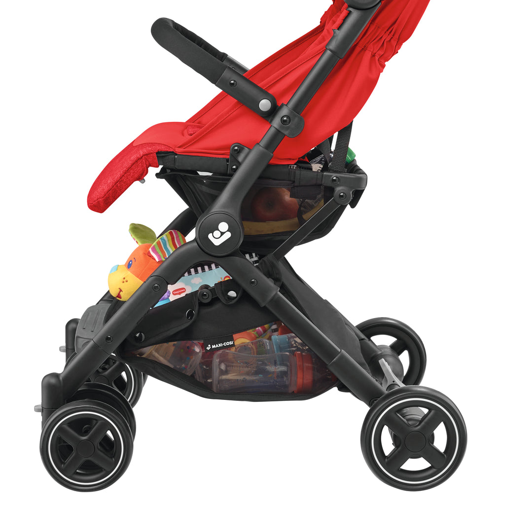 maxi-cosi lara rs ultracompact travel stroller basket