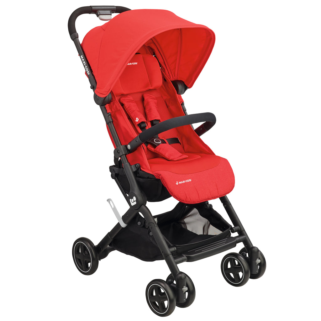 maxi-cosi lara rs ultracompact travel stroller nomad red