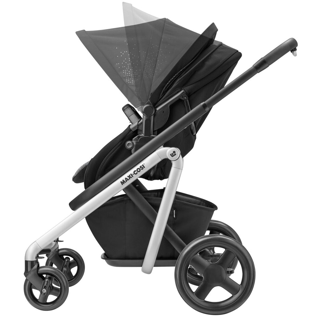 maxi-cosi lila stroller nomad black canopy adjust