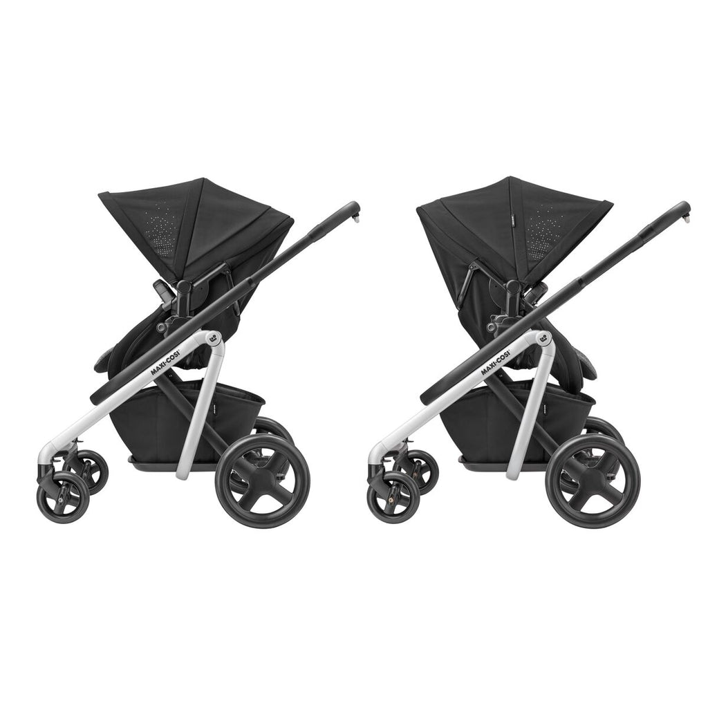 maxi-cosi lila stroller nomad black rear forward