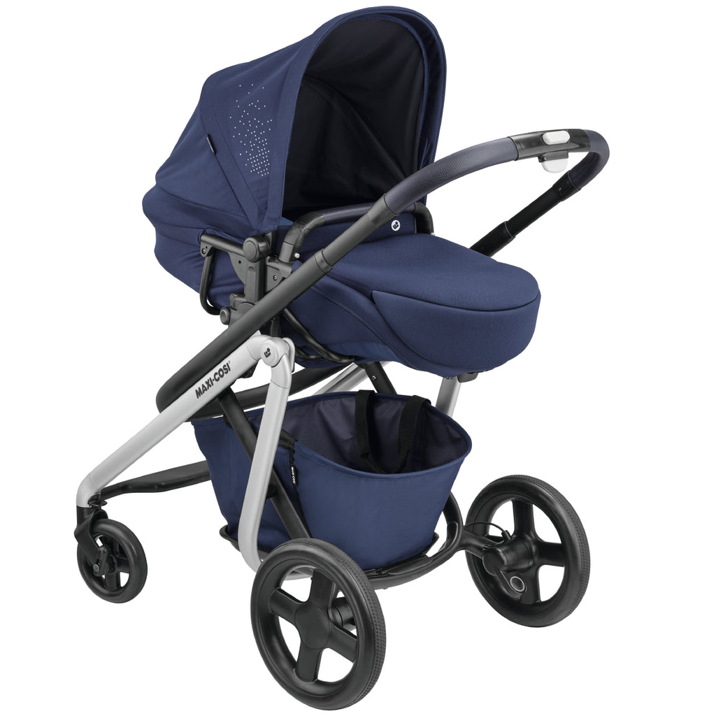 maxi-cosi lila stroller nomad blue bassinet