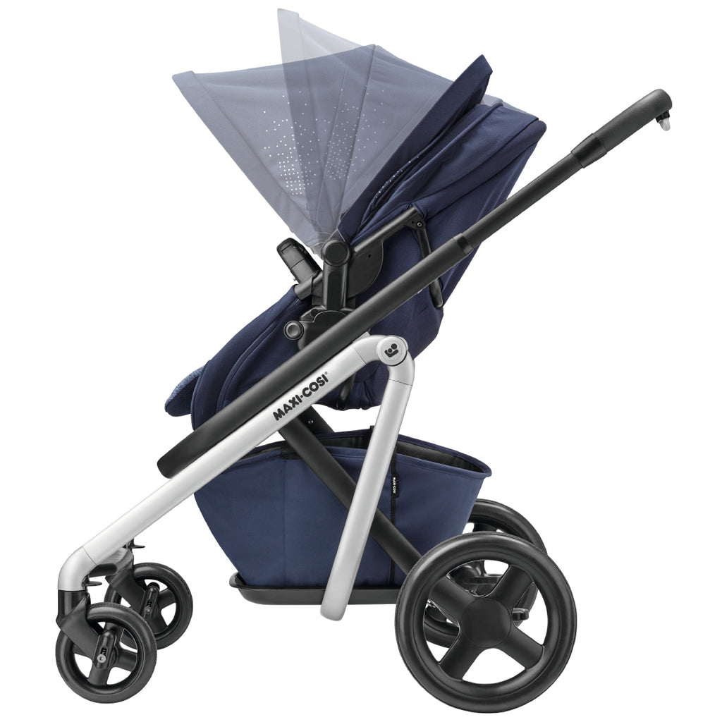 maxi-cosi lila stroller nomad blue canopy adjust