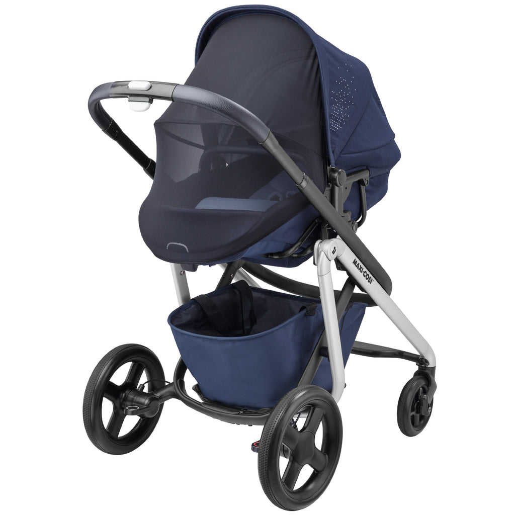 maxi-cosi lila stroller nomad blue mesh canopy