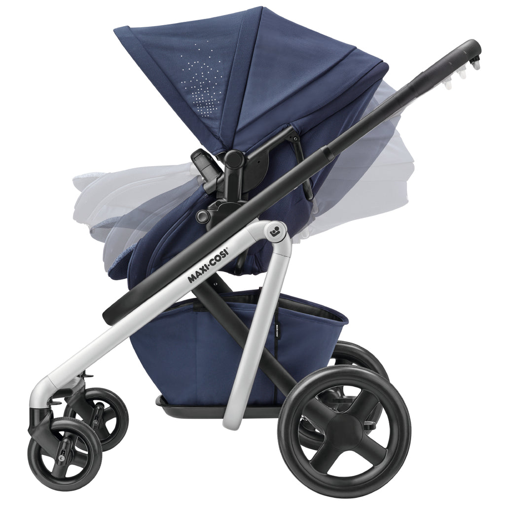 maxi-cosi lila stroller nomad blue recline