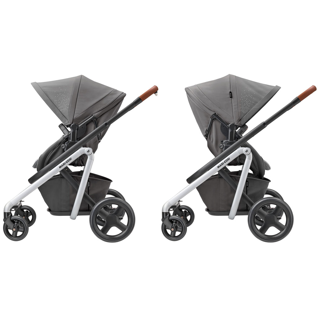 maxi-cosi lila stroller nomad grey forward rear