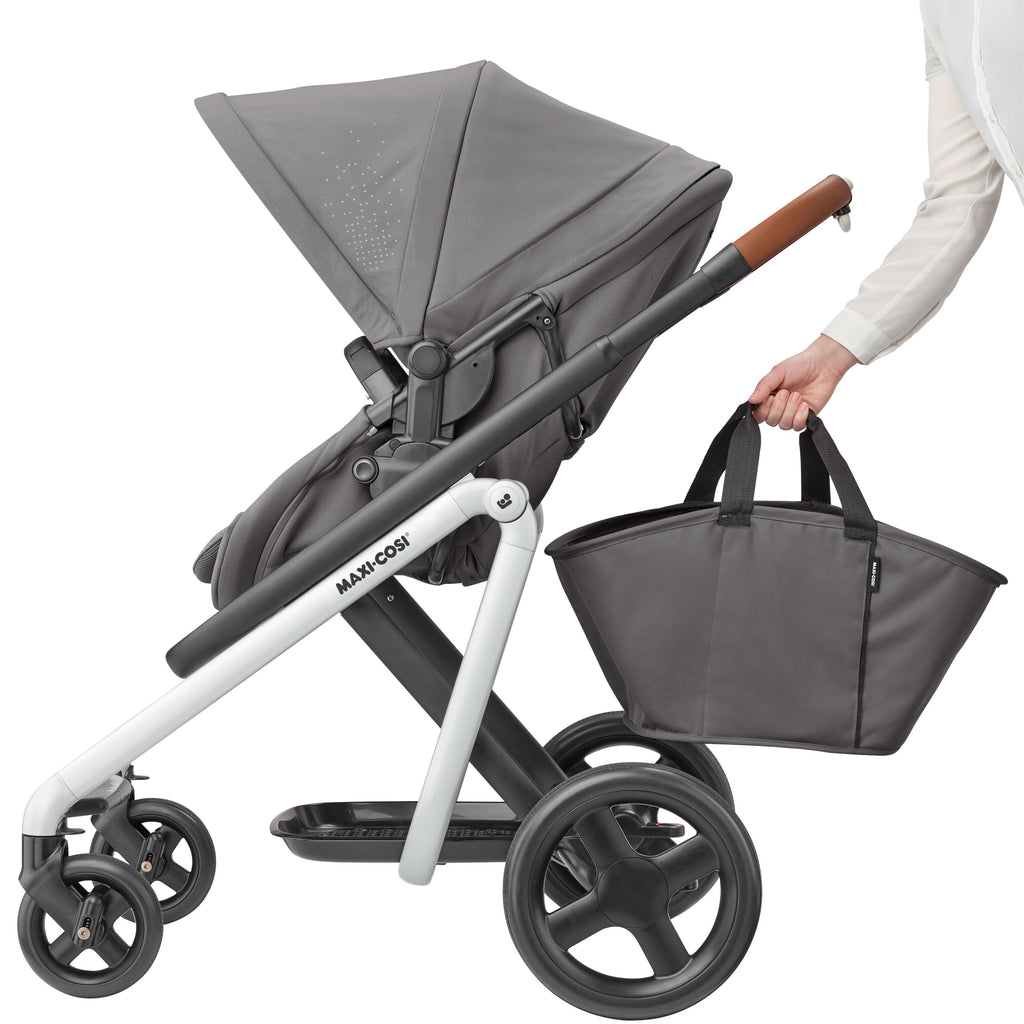 maxi-cosi lila stroller nomad grey tote bag basket