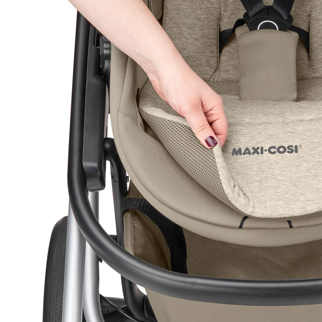 maxi-cosi lila stroller nomad sand reversible liner