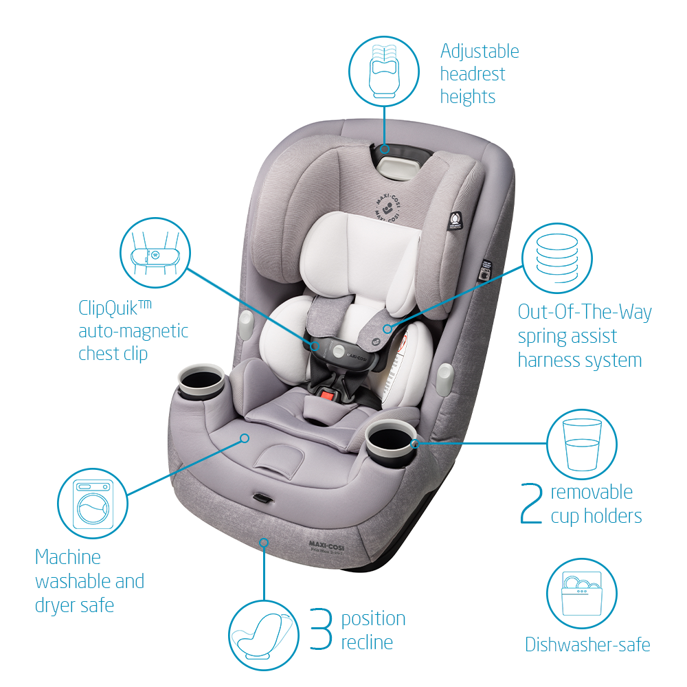 maxi cosi pria max 3-in-1 convertible car seat features