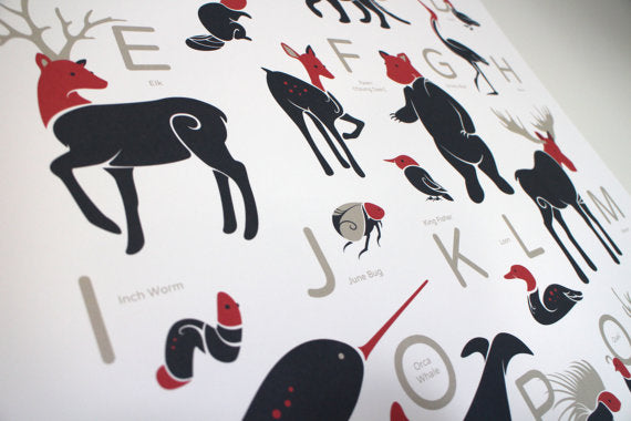 Creatures of Canada Alphabet Poster