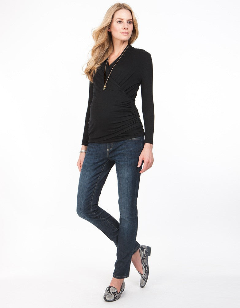 Melanie Ruched Crossover Top