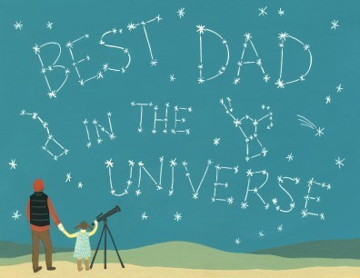 Best Dad in the Universe Card