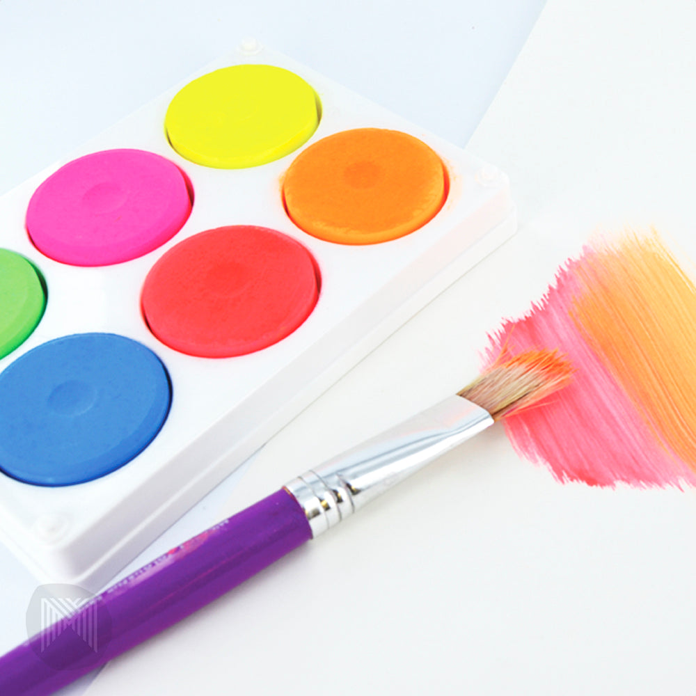 Low Mess Washable Paint Discs - Fluoro