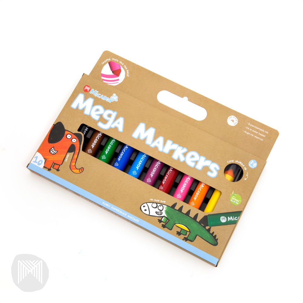 Micador jR. Mega Markers (Pack of 10)