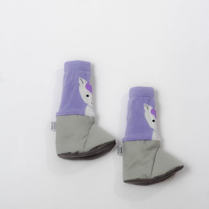 Grey Unicorn Booties