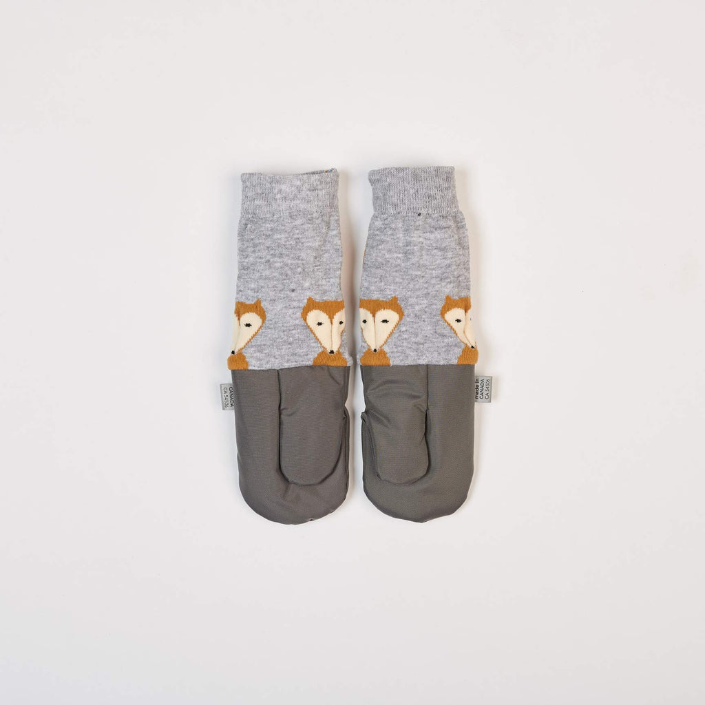 Grey Fox Mittens