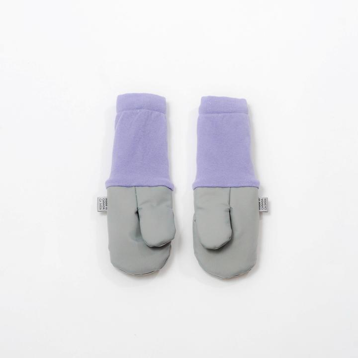Grey Unicorn Mittens