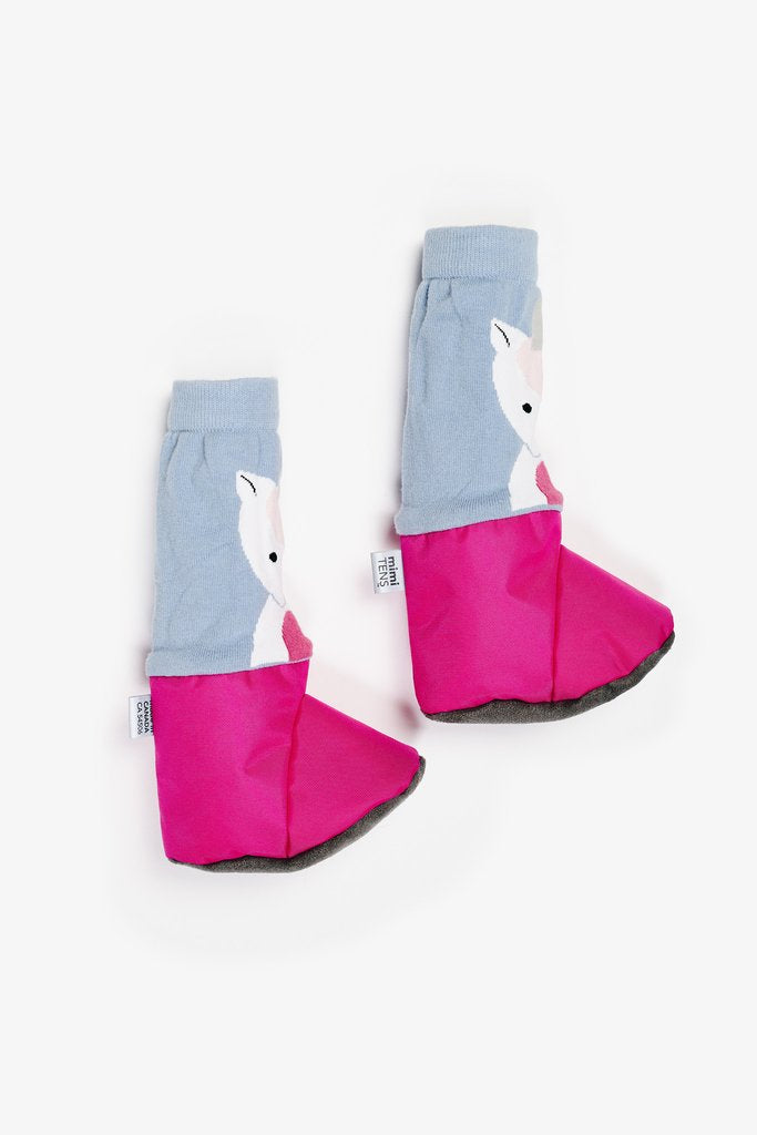 mimitens pink unicorn booties
