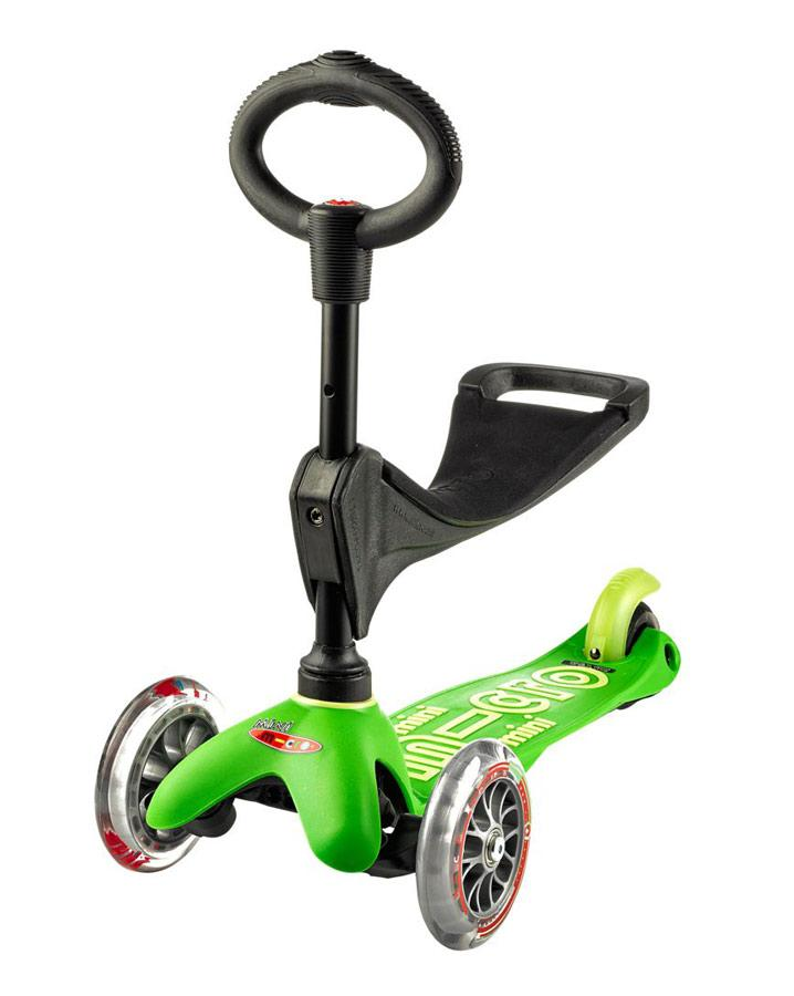 Mini MICRO 3-in-1 Deluxe Scooter - Green