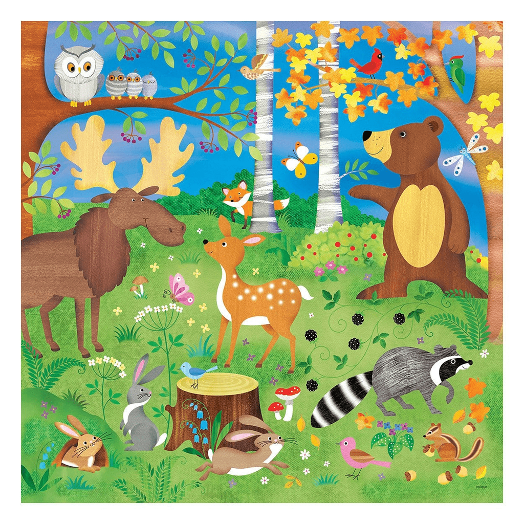 mudpuppy forest friends jumbo puzzle