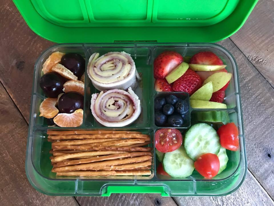 munchbox maxi6 bento box green jungle