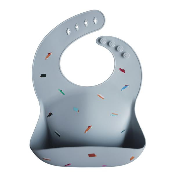 Silicone Feeding Bib - Retro Cars