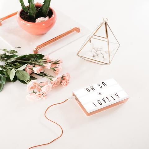 Mini Rose Gold Lightbox