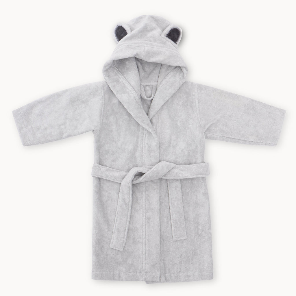 natemia bamboo baby bathrobe 1-3 grey