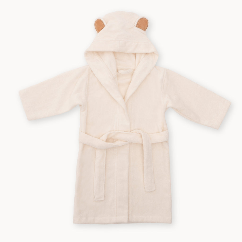 natemia bamboo baby bathrobe 1-3 white