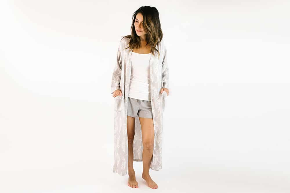 nest designs bamboo womens robe feather grey
