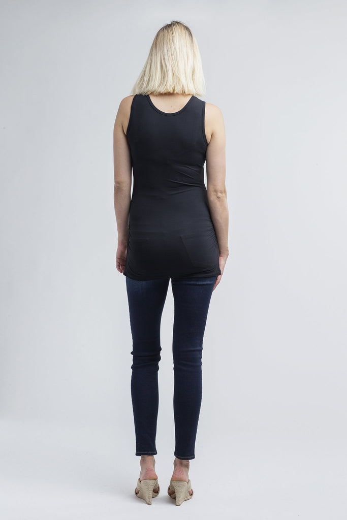 nom maternity during & after snap tank black