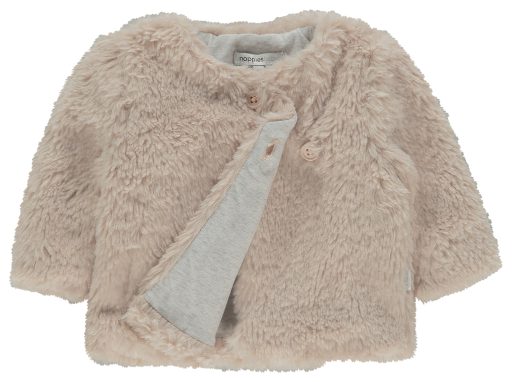 noppies cardigan corona peach blush front lining
